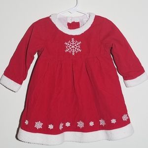 Hanna Andersson Snowflake Dress Holiday 80 18-24m